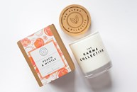 Karma Collective peach & myrtle candle